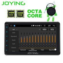 JOYING 1 din 8 »сенсорный экран android 8,1 Авторадио Стерео bluetooth головное устройство аудиосистемы gps магнитофон с carplay DSP 4 Гб оперативной памяти