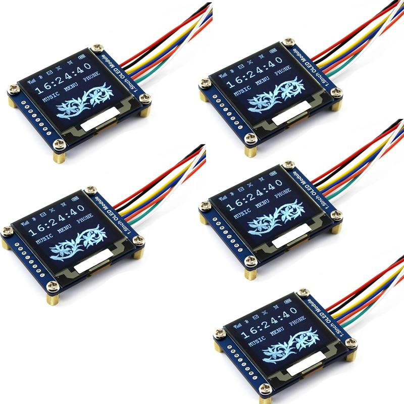 5 шт  1,5 дюйма SPI I2C OLED Дисплей модуль белый SSD1327 128x128