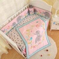 Wholesale newborn customize baby bedding set, comforter, crib sheet, crib skirt, crib bumper