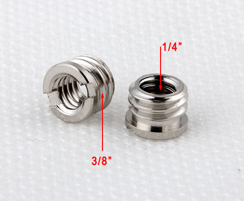 10 Pieces 1/4 to 3/8 Male to Female Tripod Adapter Screw Flash Light Stand Quick Release Plate Accessories