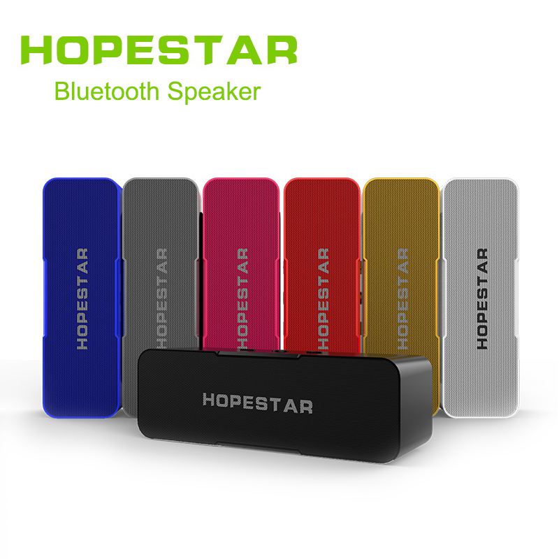HOPESTAR H13 Wireless Bluetooth Speaker subwoofer Dual Bass Stereo Support <font><b>USB</b></font> TF AUX FM with Power bank charging for Mobile image