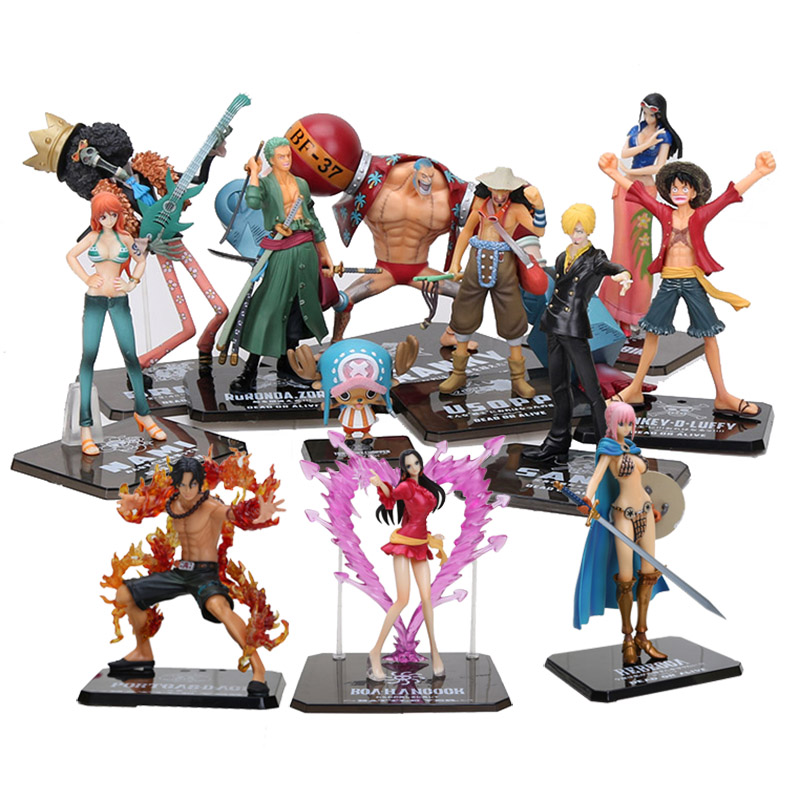 Anime One Piece Figure 2 YEARS LATER Luffy Nami Roronoa Zoro Sanji Chopper Hancock Battle Ver. Action Figure Collection Toy