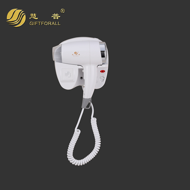 GIFTFORALL Hair Dryer 210v-240v Wall Mounted Electric White Barber Products Hotel Hair Dryer For Bath Blow Dryer 67491B modun m 1288a 1200w wall mounted electric hair dryer white 2 flat pin plug