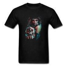 2018 Hip Hop Novely t-shirty Skull Mage oryginalne koszulki z nadrukiem z postaciami topy i koszulki świetna jakość hurtowych niestandardowych mężczyzn T Shirt