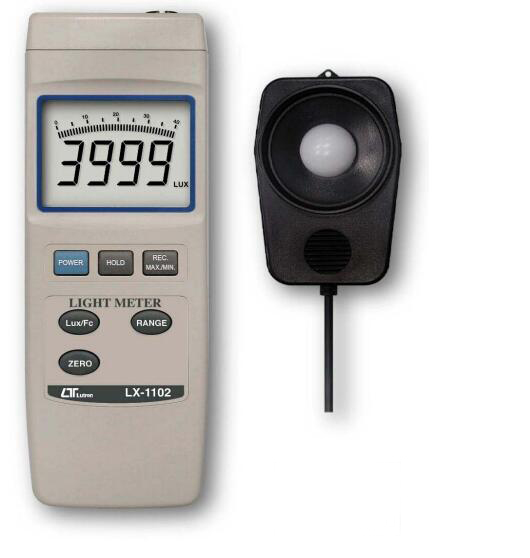 LX-1102 Digital Light Meter Lux Luminometer Illumination Design 400000 Lux,  5 ranges brand new professional digital lux meter digital light meter lx1010b 100000 lux original retail package free shipping