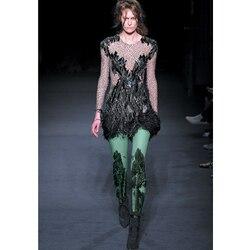 مفتوحة المنشعب Crotchless بيع الأوساط Pantis امرأة ربيع جديد جوارب طويلة رسم الغابات شجرة كبيرة اللوحة المخملية عرض أزياء كبار