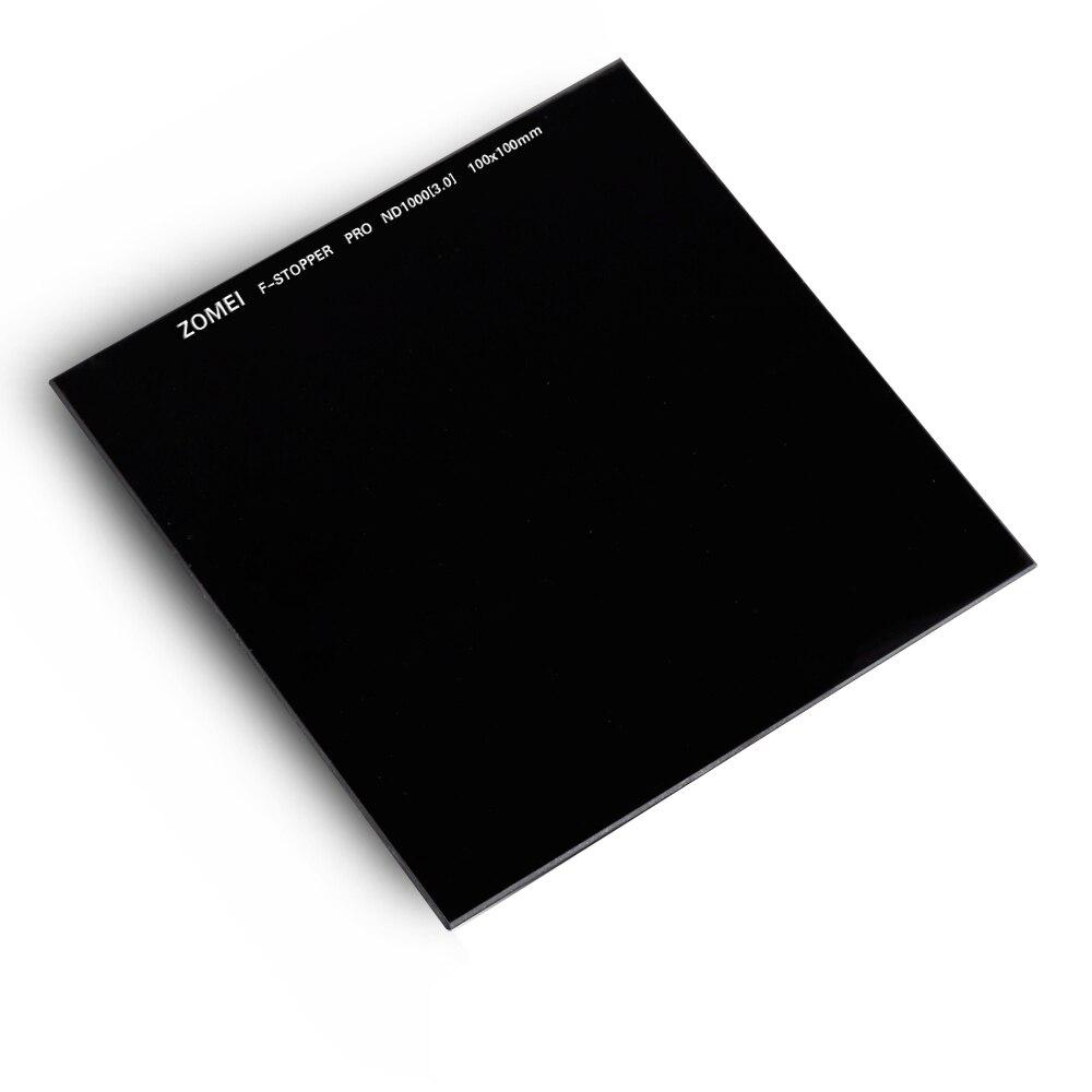 Zomei 100 мм квадратный фильтр ND1000 Pro Оптическое стекло 100x100 мм 10 стоп ND3.0 ND фильтр для Cokin Z серии Lee Hitech Singh Ray - 2