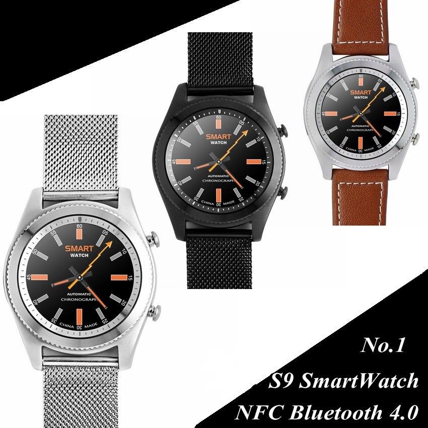 Bluetooth Smart watch NO.1 S9 MTK2502C Heart Rate Monitor NFC Bluetooth 4.0 Alat yang boleh pakai gelang untuk Android iOS Smartphone
