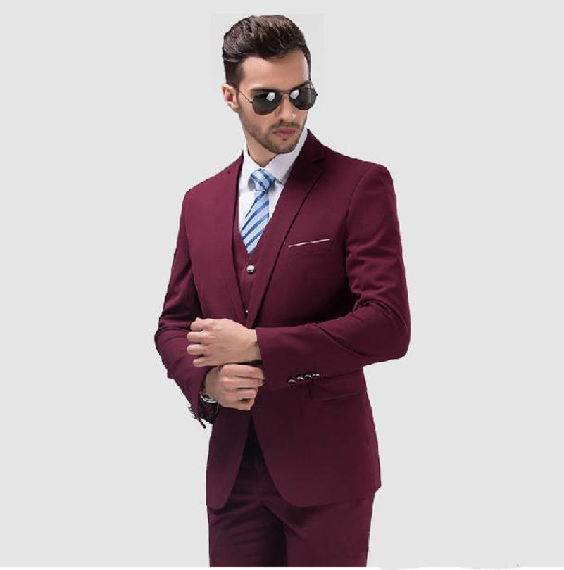 Popular Burgundy Suit Mens-Buy Cheap Burgundy Suit Mens lots from