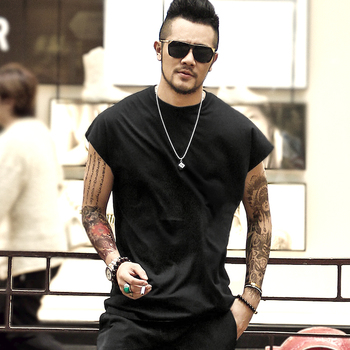 Summer New Men Casual Cotton sleeveless T-shirt Loose mens tank top bodybuilding fitness undershirt man fitness O Neck singlet