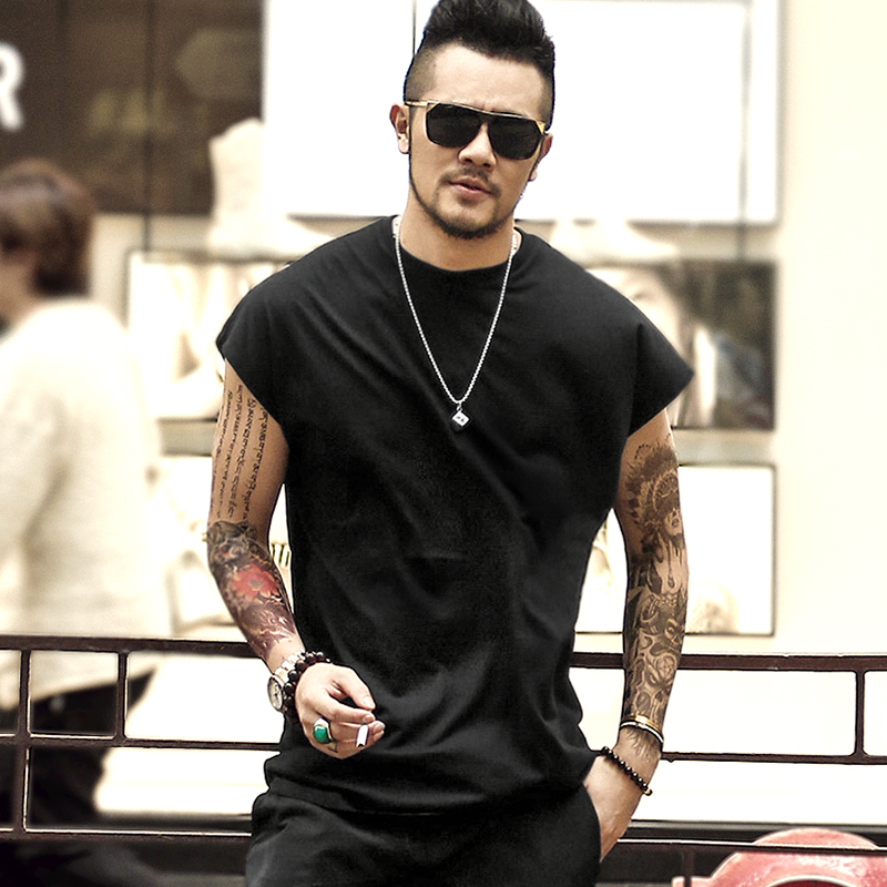 Summer New Men Casual Cotton sleeveless Loose mens   tank     top   bodybuilding fitness undershirt man fitness O Neck singlet