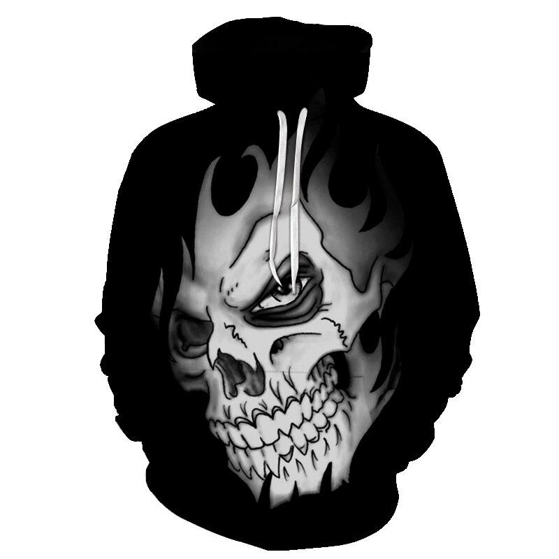 2018 new 3d Skull Hoodie Men Women Fashion Winter Spring Sportswear Hip Hop Tracksuit Brand Hooded Sweatshirt Dropship S-6XL