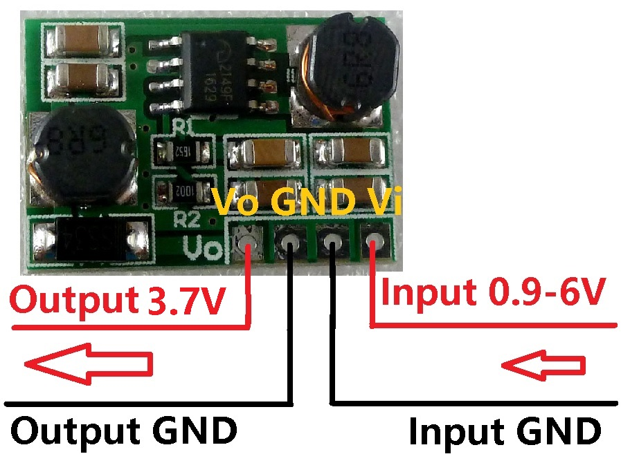 DD0603SA_3V7 2 in 1 0.9-6 V naar 3.7 V Auto Buck-Boost Step-UP & Stap-Down DC DC Converter voor 18650 Solar batterij Speelgoed voeding
