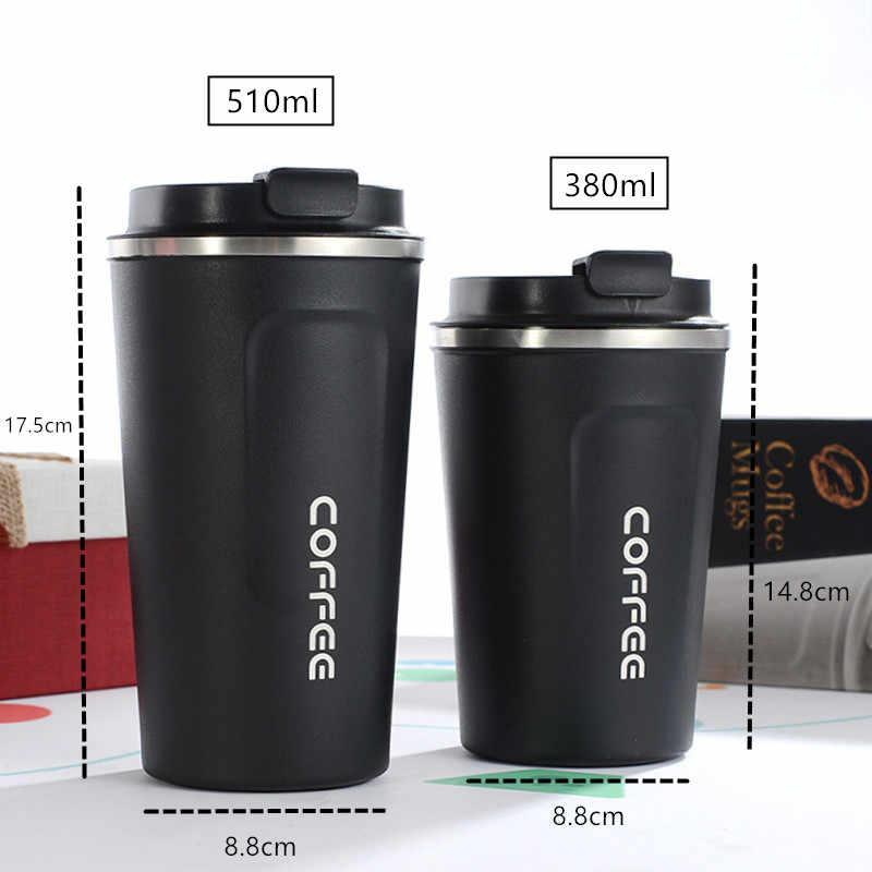 Novo estilo duplo aço inoxidável 304 caneca de café caneca térmica do carro leak_proof viagem thermo copo thermosmug para presentes