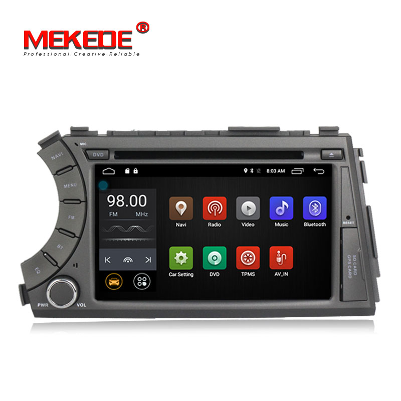 Multi-language menu 7inch Capacitive screen car audio dvd player gps navigator for ssangyong kyron/Actyon Quad-core Android7.1