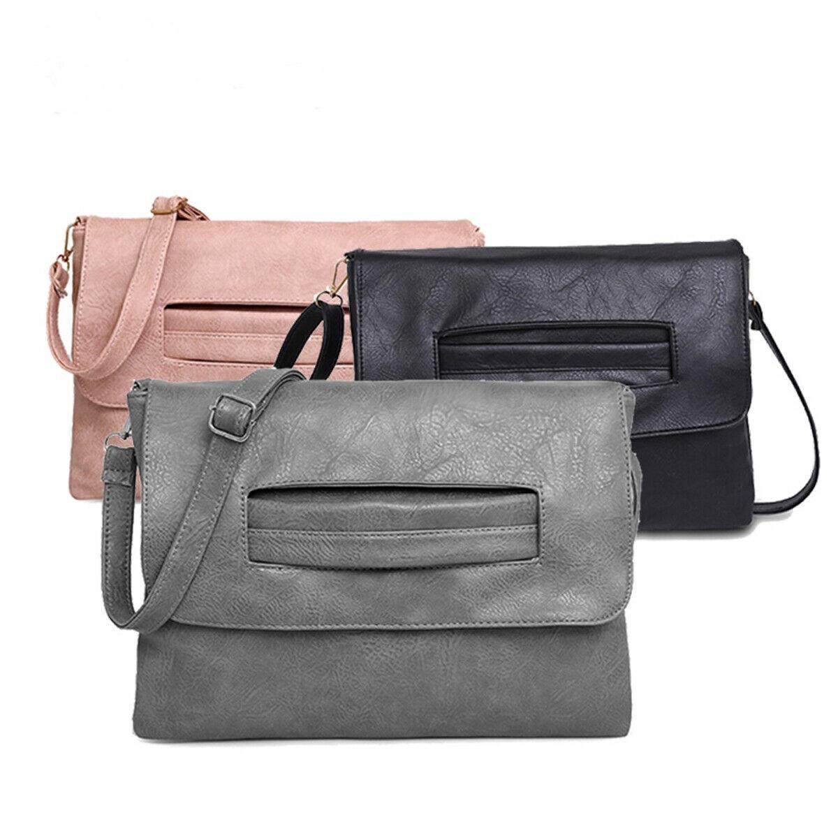 Women Lady Leather Handbag Cross Body Shoulder Travel Bag Tote Purse Messenger Satchel
