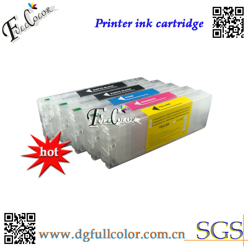 Free shipping bulk refillable <font><b>ink</b></font> <font><b>cartridge</b></font> for <font><b>epson</b></font> pro <font><b>7700</b></font> 9700 wide format printer 5 colors image