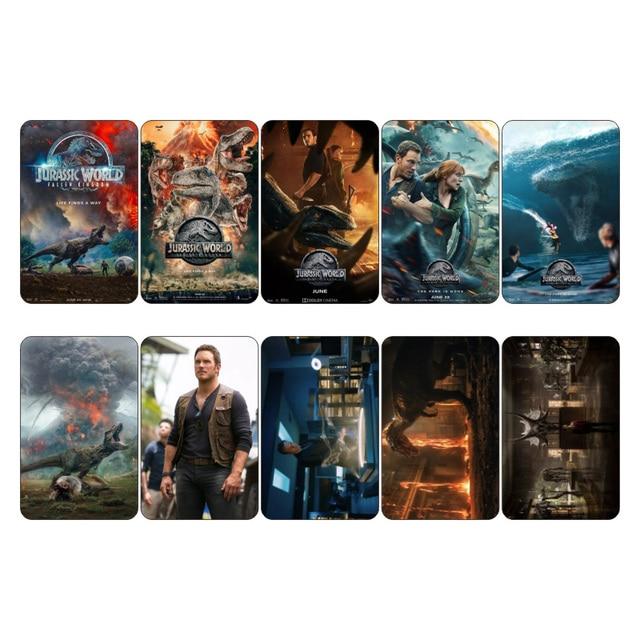 10 Pcslot Jurassic World Fallen Kingdom Movie Poster Collectibles
