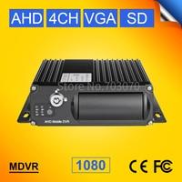 Free shipping AHD 4CH SD Card Mobile DVR , H.264 Car DVR , Motion Detect ,Cycle Recording , MDVR,G-Sensor, Mini Video Recorder