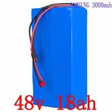48 В 18AH литий-ионный аккумулятор 48 В 18AH Электрический велосипед литиевая батарея 48 В использовать samsung батарея с 30A BMS + 54,6 В 2A зарядное устройство