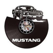 Home Decoration Modern Car Design Wall Clock  Black Vinyl LP Record Watches Best  Gifts
