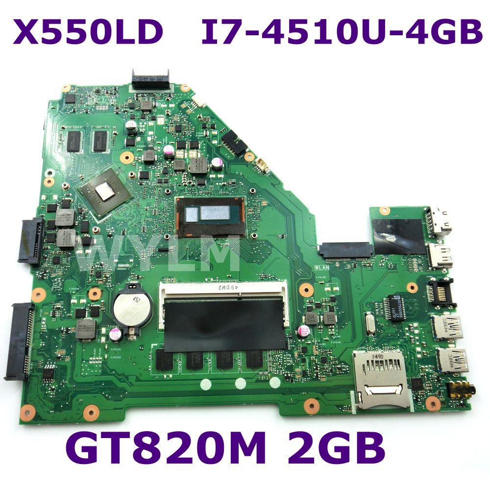 X550LD I7-4510 CPU GT820M 2GB mainboard REV2.0 For ASUS X550L X550LN X550LNV R510LD R510LN R510LD Laptop motherboard 100% Tested for asus motherboard a550l a550la r510l r510la x550l x550la motherboard x550ld rev2 0 mainboard with i7 4500u 4g hd 4400 tested