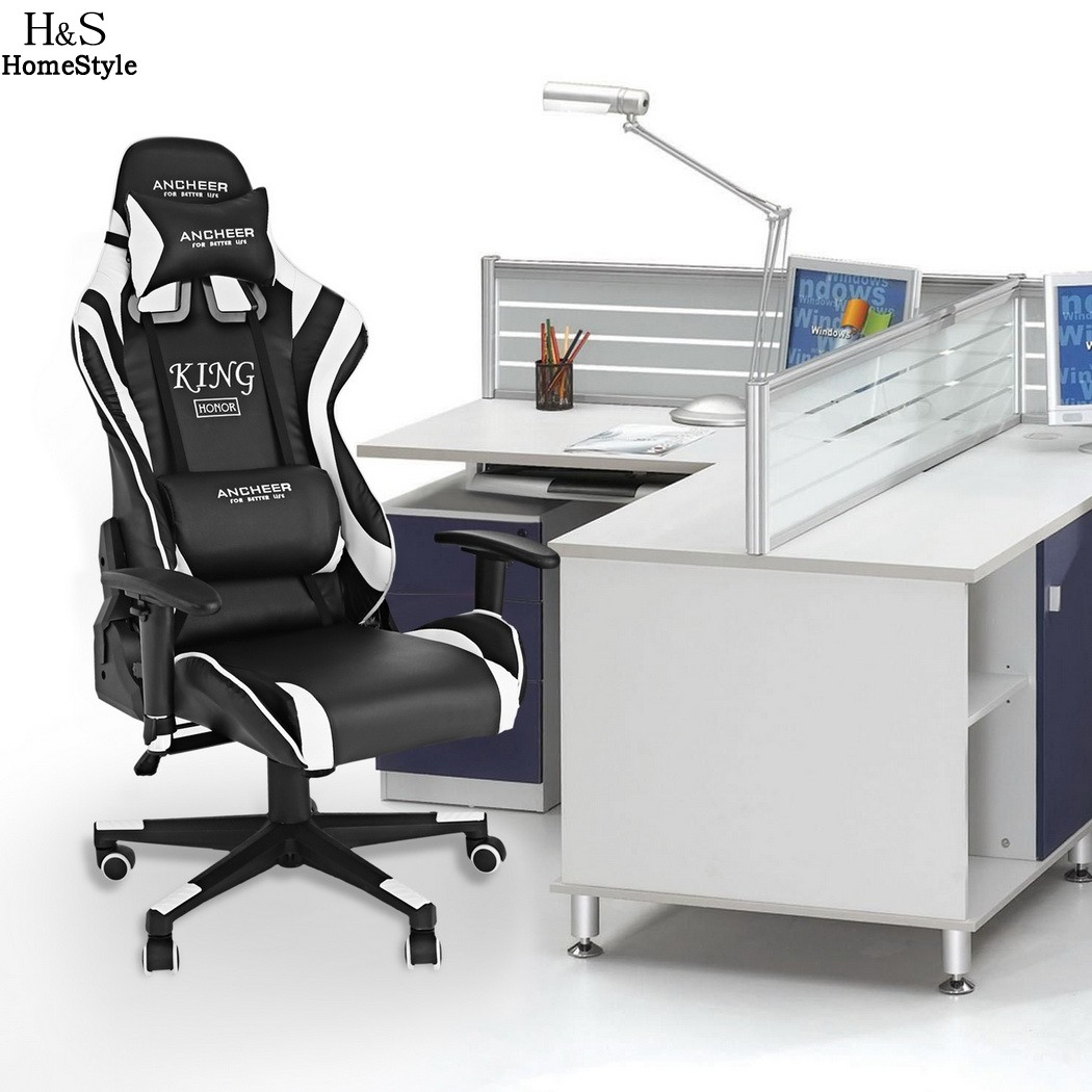Hondox Office Chair with Armrests Ergonomic PU Padded High-Back Executive Chair N30* 240337 ergonomic chair quality pu wheel household office chair computer chair 3d thick cushion high breathable mesh