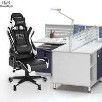 Hondox Office Chair with Armrests Ergonomic PU Padded High Back Executive Chair N30A