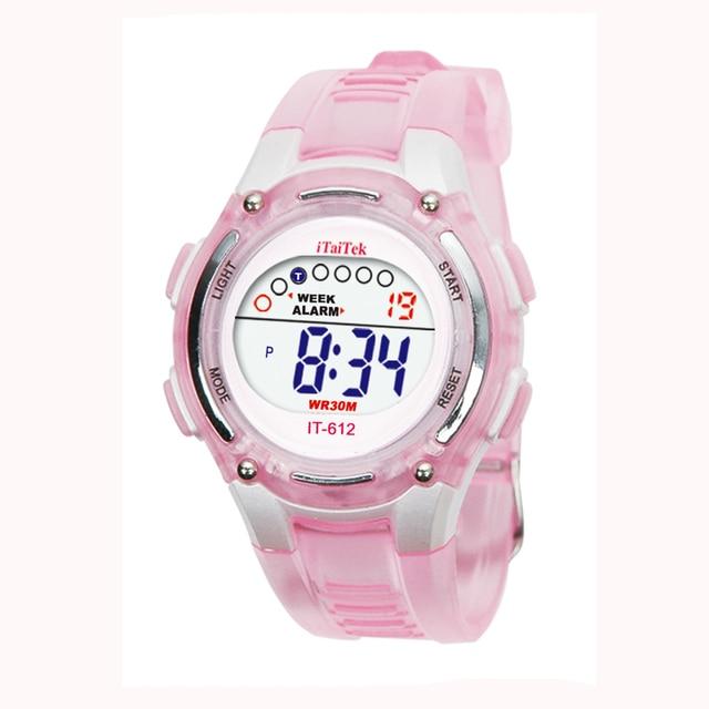 #5001 Bambini Delle Ragazze Dei Ragazzi Di Nuoto Di Sport Digitale Orologio Da P
