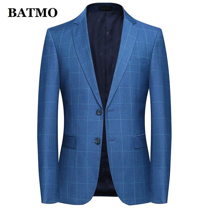 Batmo 2019 New Arrival Spring High Quality Plaid Casual Blazer Men,men's Suits Jackets ,casual Jackets Men Plus-size  M-4XL 9802