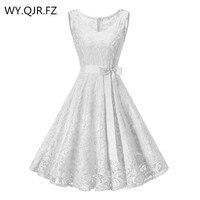 OML510B#V neck White Bow Short Bridesmaid Dresses wedding party dress 2018 prom gown Ladies women's fashion wholesale clothing