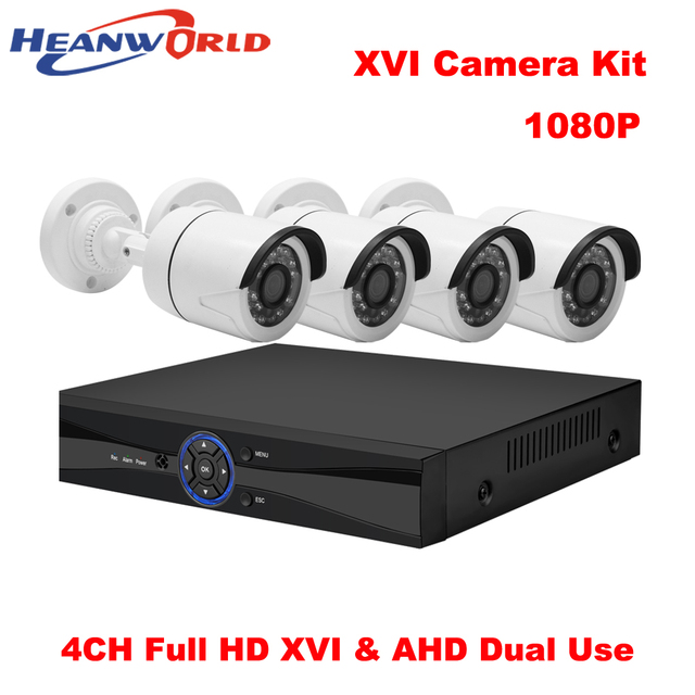 CCTV Camera System DVR Kit 1080P HD 4CH XVR Outdoor Home Security ...