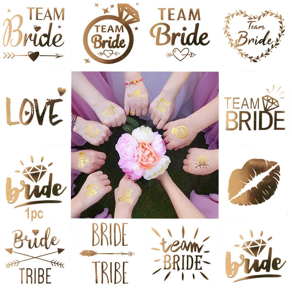 10 шт., девичник для невесты, для подружки невесты, для ночной команды, татуировка для невесты, Золотая наклейка для невесты, свадебные украшения, принадлежности, чашка
