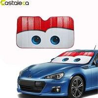 Castaleca 5 Colors Eyes Pixar Heated Windshield Sunshade Car Window Windscreen Cover Sun Shade Auto Sun