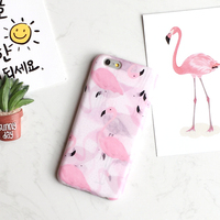 New Hot Cute Candy Macaroon Color Pastel Pink Flamingo Soft TPU Slim Cover For IPhone 6