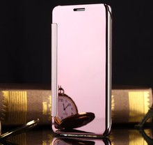 Fashion Luxury Woman Girl Lady Style Ultra Thin Flip Design Mirror Leather Phone Bag Cover Case For Samsung Galaxy J2 Prime