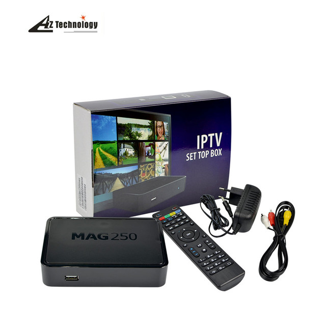 Nueva IPTV caja Linux MAG250 Media Player WiFi Linux 2.6.23 sistema Procesador STi7105 RAM 256 Mb MAG 250 tv de Calidad Superior caja