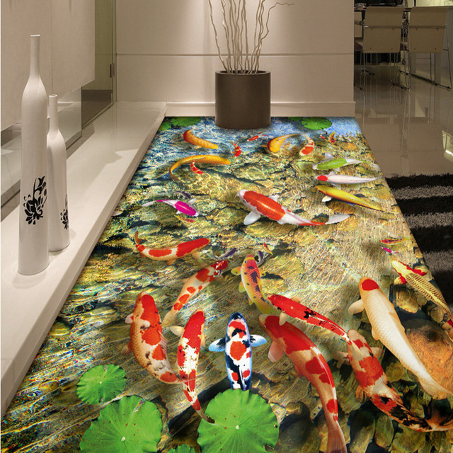 3D Fish Ocean World Rug Animal Printed Non Slip Cutting Bar Door ...