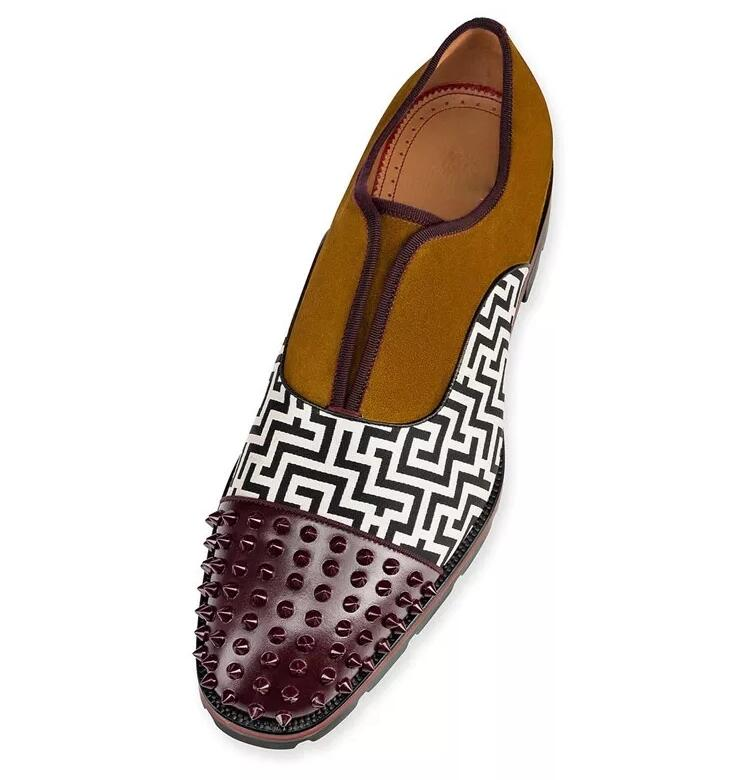 Qianruiti brytyjski męskie modne buty nity Studded mokasyny antypoślizgowe oksfordzie sznurowane ślubne szpilki mężczyzn ue 39 Eu 46 w Męskie nieformalne buty od Buty na  Grupa 3