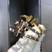Hot Famous brand jewelry heavy big letter T bracelet bangles