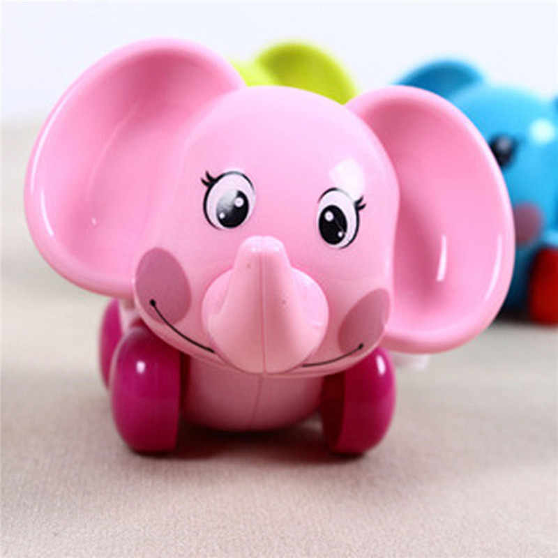 Заводная игрушка 1 шт. животных дизайном в виде слона для маленьких подарок для новорожденных игрушка-лучший подарок для того, чтобы детские заводные игрушки Детские Классические развивающие