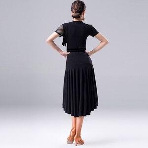 Image 4 - 2018 nuevo vestido de baile latino de moda para mujeres/señora International Standard salón Cha Salsa Dancing vestidos de Latina DL2558