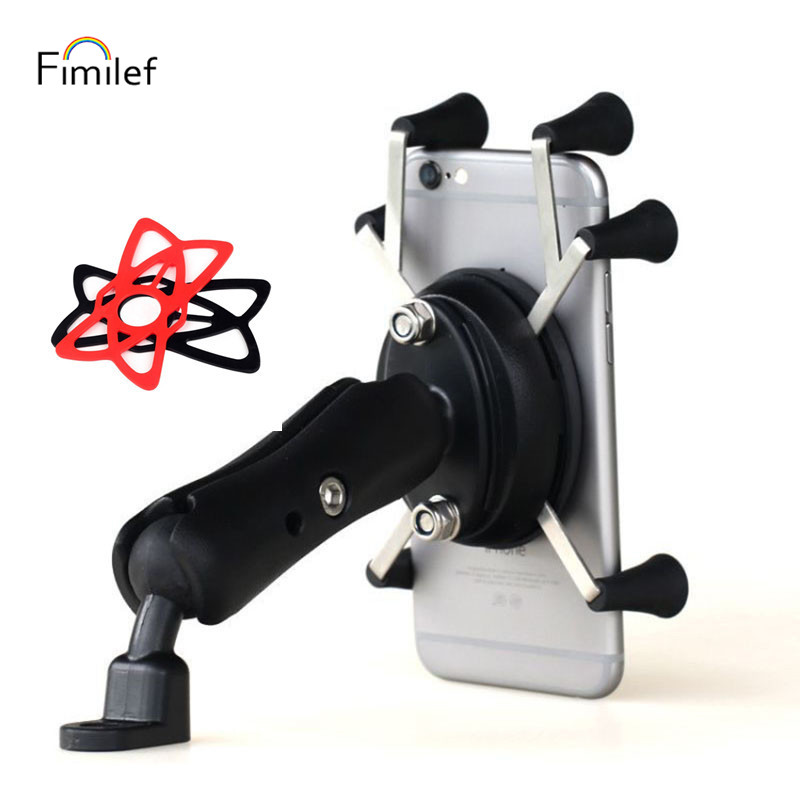 Fimilef Motorcycle Phone Holder Motorbike Rear View Mirror Handlebar Mount Stand Support For Mobile Phone Moto Cell Phone Holder