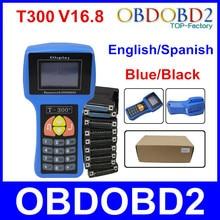 Profesional Programador Dominante Auto T300 Nuevo V16.8 T 300 Inglés o Español T-CODE Azul/Negro Coches T-300 Transpondedor Automático