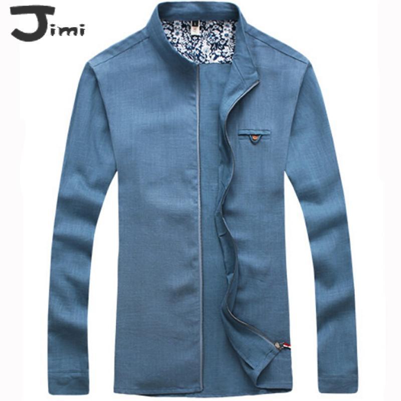 Stand Collar Shirts Designs : Aliexpress buy men shirt autumn new mens shirts