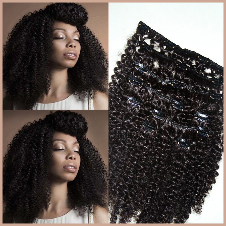 African American Natural Hair Extensions Clip In Prices Of Remy Hair