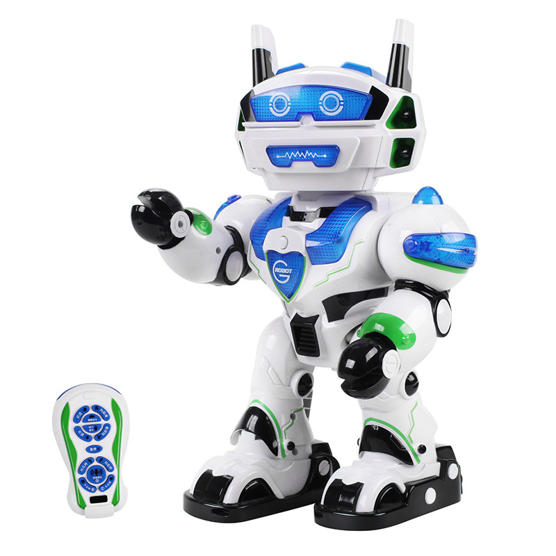 Electric Intelligent RC Robot Walking Dancing Singing Voice Parody Interaction Models For Kids Christmas Gifts Toy Presents intelligent wireless remote control robot dog kids dancing walking dog