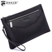 ZOOLER Brand Envelope Clutch Bag men bag Brand genuine leather bag Wallet Leather Genuine bag Cowhide Wallets hasp Purses #10110