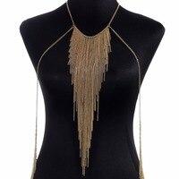 WLP biżuteria wielkie Osobowości Przesadzone naszyjnik wielowarstwowy łańcuch frędzle Komunikat chain naszyjniki Punk Sexy ciało biżuteria