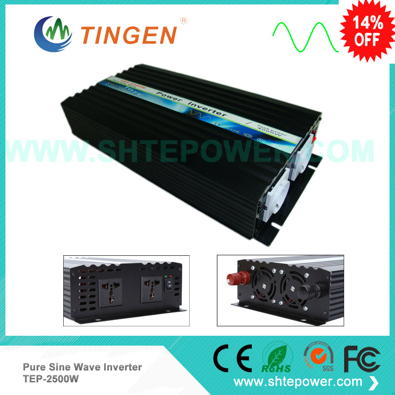 2500W 12/24/48VDC to 110/220/230/240VAC Digital power inverter Pure Sine wave Inverter,50Hz Or 60Hz Off Grid Tie
